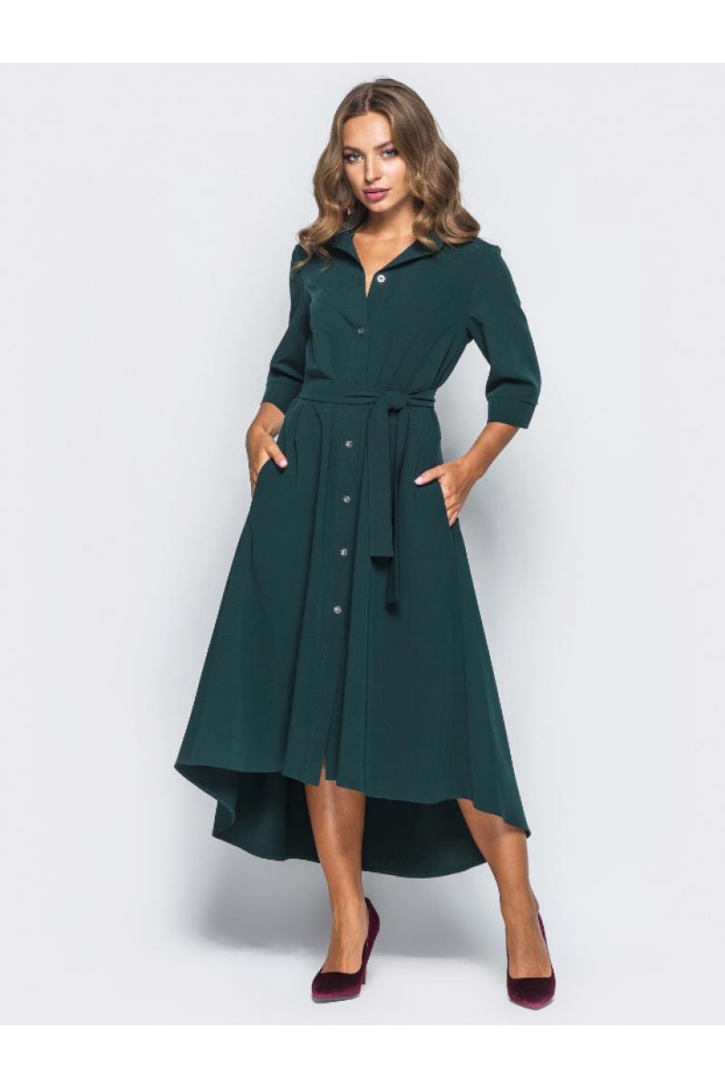 ac440749f6974e Зелене плаття-сорочка з поясом