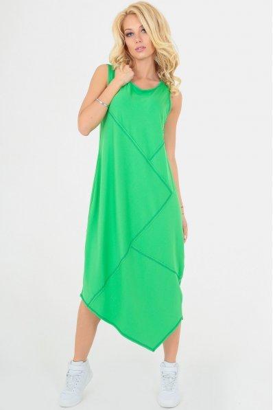 Зеленое летнее платье оверсайз