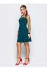 Женственное вечернее платье цвета морской волны - фото 1